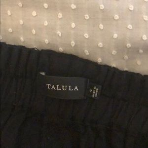 Talula black ankle pants